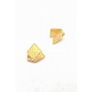 Goud metalen veter-klem 6mm