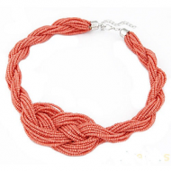 Ketting Knoop Rocailles Coral