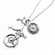 Ketting-Fiets-Strass-zilver