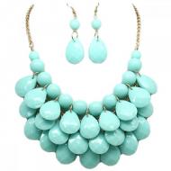 Ketting-Oorbellen-Drop-Turquoise