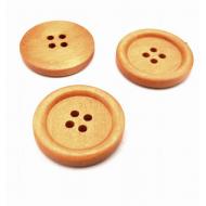 Houten Knop naturel hout  25mm