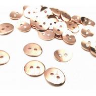 Knoop - 2 gaten - Rose Gold metaal