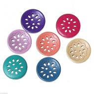 Houten-Knoop-mix kleur