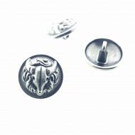 Knoop-Buffalo-metaal-Zilveren