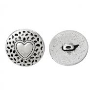 Knoop-Hart-Metaal-zilveren