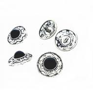 Knoop-Zilver-Zwart-20mm