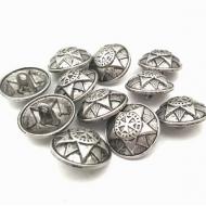 metalen knoop met ster