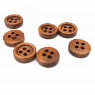 Knoop teak hout - klein 10mm