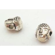 Kraal Boeddha spacer zilver