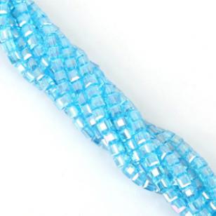 Glas Kralen Facet Blue 4x4mm