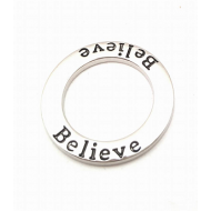 Connector ring- Believe DQ metaal