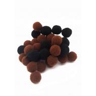 Pompoen kralen 10mm - bruin/zwart 10stuks