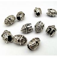 Kraal/Bedel  Helm  Zilver metaal