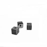 Kraal-vierkant-gun-black 6x6mm