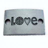 Tussenstuk Love Peace 30x20mm