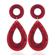 Oorbellen-Acetate-Rood