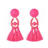 Oorbellen-Kwast-Crystal-Pink