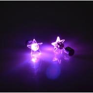 Oorbellen LED met ster