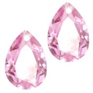 Druppel vorm hanger Kristal Crystal  Pink Opal