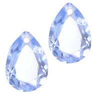 Druppel vorm - hanger - kristal crystal Sapphire Blue