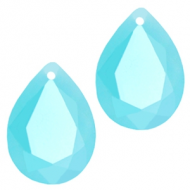 Druppel vorm - kristal Crystal Turqouise