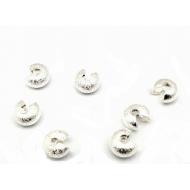 Metalen verberger van Knijpkraal - Silver plated Stardust  6.5 mm