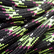 Paracord 4mm Zwart Neon 10mtr