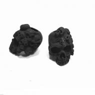 Kraal- Skull - Poedercoating-mat Zwart #2