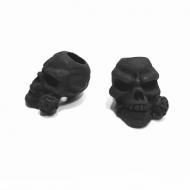 Kraal - Skull Poedercoating mat zwart