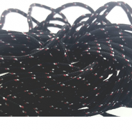 Paracord 2mm ZwartRood 10mtr