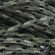 Paracord 2mm Zilver/zwart/wit