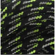 Paracord 2mm Zwart Groen Zilver