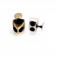 Sluiting Verdeler Knoop Brons/Zilver