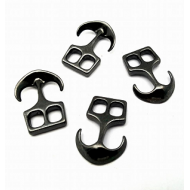 Gun Black Anker-sluiting   26x18mm