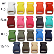 Sluiting-19 kleuren - uitsparing 15 mm - afmeting 20 x 40 mm