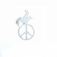 Hanger-Peace-teken-Duif-62mm