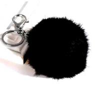 Pompon-Sleutelhanger-Zwart