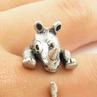Neushoorn Ring verstelbaar