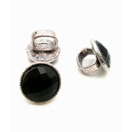 Schuiver/Schuifkraal met zwart steen rond