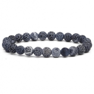 Armband Crackle Agate Zwart