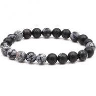 Armband Snowflake Obsidian