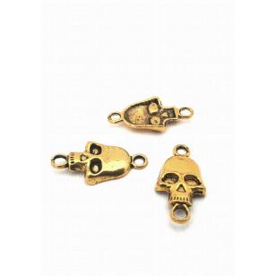 Goudkleur Skull/doodshoofd connector/tussenstuk