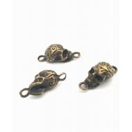 Bronzen Skull/ Doodshoofd connector   #8