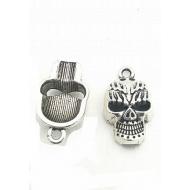 Bedel zilverkleur Skull- Doodshoofd  #765