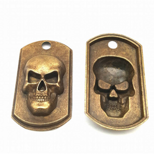 Bedel Brons Skull 50x28mm