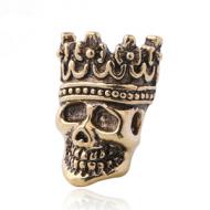 Kraal Skull Victoriaans Goud