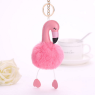 Sleutel/Tassen-hanger-Flamingo-roze