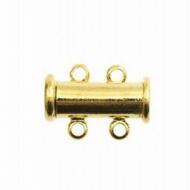 Sluiting- Schuif gouden met 2 ogen - magneet