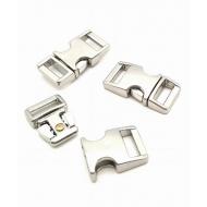 Metalen Gesp sluiting - klein - zilver
