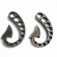 Sluiting-Haak-brons-6mm